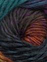 Fiber Content 100% Wool, Teal, Purple, Brand ICE, Brown, Black, Yarn Thickness 4 Medium  Worsted, Afghan, Aran, fnt2-43064