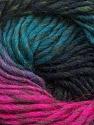 Fiber Content 100% Wool, Turquoise, Brand ICE, Fuchsia, Black, Yarn Thickness 4 Medium  Worsted, Afghan, Aran, fnt2-43066