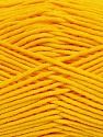 Fiber Content 55% Cotton, 45% Acrylic, Brand Ice Yarns, Dark Yellow, Yarn Thickness 4 Medium  Worsted, Afghan, Aran, fnt2-45148