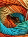 Fiber Content 100% Mercerised Cotton, Yellow, Turquoise, Orange, Mint Green, Brand Ice Yarns, Yarn Thickness 2 Fine  Sport, Baby, fnt2-47197