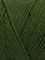 Items made with this yarn are machine washable & dryable. Fiber Content 100% Dralon Acrylic, Brand Ice Yarns, Dark Green, Yarn Thickness 4 Medium  Worsted, Afghan, Aran, fnt2-47396