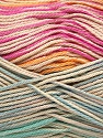 Fiber Content 100% Mercerised Cotton, Pink, Orange, Mint Green, Brand Ice Yarns, Blue, Beige, Yarn Thickness 2 Fine  Sport, Baby, fnt2-48628